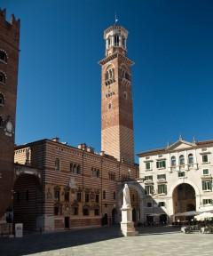 Torre dei Lamberti, Piazza dei Signori, Verona, Arena, Unescos liste over Verdensarven, romerriket, antikken, historiske bydeler, gamlebyen, Veneto, Nord-Italia, Italia