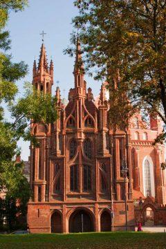 gotiske Santa Annas kirke, Vilnius, historisk, gamleby, Unesco Verdensarven, Lithauen, Baltikum