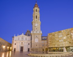 San Salvador, La Seu, Zaragoza, Rio Ebro, Plaza del Pilar, Plaza César Augusto, Unescos liste over Verdensarven, historisk bydel, gamleby, Aragon, Madrid og innlandet, Spania