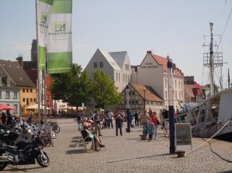 Wismar, Alter Hafen, Østersjøen, middelalder, Backsteinsgotik, Ostsee, Unesco Verdensarv, Gamlebyen, Altstadt, Hansestadt Wismar, Mecklenburg Vorpommern, Nord-Tyskland