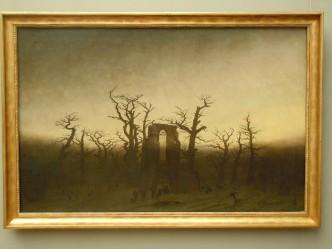 """Klosteret i eikeskogen"" av Caspar David Friedrich, Alte Nationalgalerie Berlin"