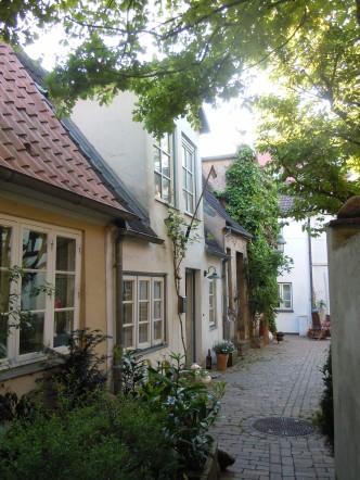 Bakgård, Lübeck, Altstadt, middelalder