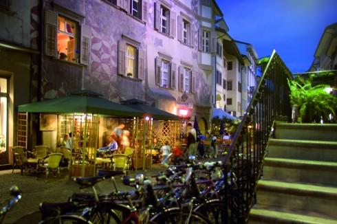 Silbergasse, Altstadt, Bolzena, Bozen, Alto Adige, Nord-Italia, Italia