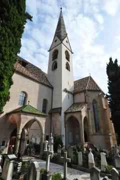 Alte Grieser Pfarrkirche, Gamlebyen, Altstadt, Bolzano, Bozen, Alto Adige, Tyrol, Süd-Tirol, Nord-Italia, Italia