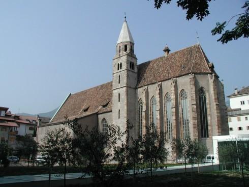 Fransiskanerkirche, Altstadt, Bolzano, Bozen, Alto Adige, Nord-Italia, Italia