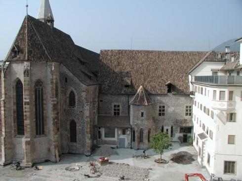 Fransiscanerklosteret med kirken, Bolzano, Altstadt, Bozen, Alto Adige, Tyrol, Süd-Tirol, Nord-Italia, Italia