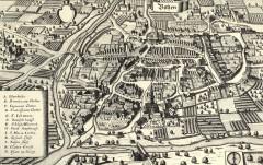 Gammelt kart, Merian, Gamlebyen, Altstadt, Bolzano, Bozen, Alto Adige, Tyrol, Süd-Tirol, Nord-Italia, Italia