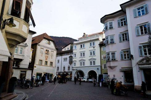 Piazza del Grano, Kornmarkt, Kornplatz, Altstadt, Bolzena, Bozen, Alto Adige, Nord-Italia, Italia