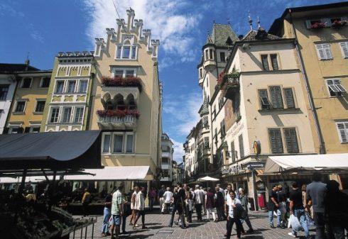 Piazza del Erbe, Altstadt, Bolzena, Bozen, Alto Adige, Nord-Italia, Italia