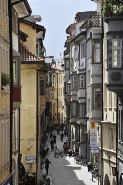 Via Portici Lauben Gasse, Altstadt, Bolzano, Bozen, Alto Adige, Tyrol, Süd-Tirol, Nord-Italia, Italia
