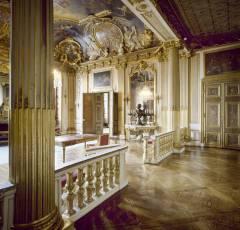 Kungliga Slottet, rum 53, Gustav III:s paradesängkammmare, Stockholm, Gamla Stan, gamlebyen, Unesco Verdensarv, Sverige