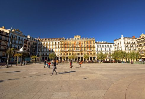 Plaza de Castillio, Pamplona, Spania