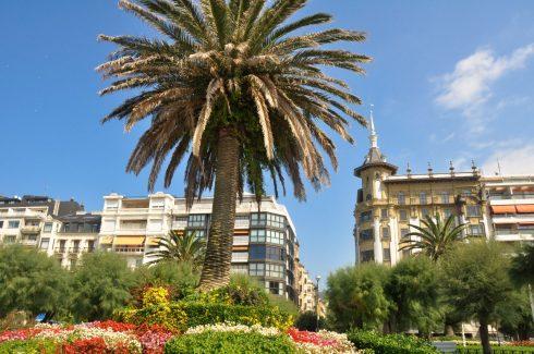 San Sebastian, Jardines de Alderdi Eder, Baskerland, Nord-Spania