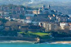 San Sebastian, badestrender, Palacio Miramar, Baskerland, Nord-Spania