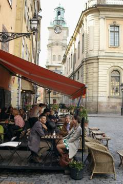 Chocladkoppen Café, Stockholm, Gamla Stan, gamlebyen, Unesco Verdensarv, Sverige