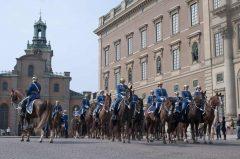 Beridna Högvakten, Kungliga Slottet, Stockholm, Gamla Stan, gamlebyen, Unesco Verdensarv, Sverige