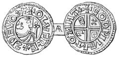 Sveriges første mynt, Olof Skötkonung, Myntkabinettet, Stockholm, Gamla Stan, gamlebyen, Unesco Verdensarv, Sverige
