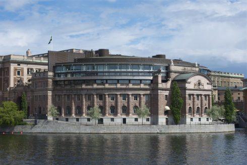 Riksdagen, Helgeandsholmen, Stockholm, Gamla Stan, gamlebyen, Unesco Verdensarv, Sverige