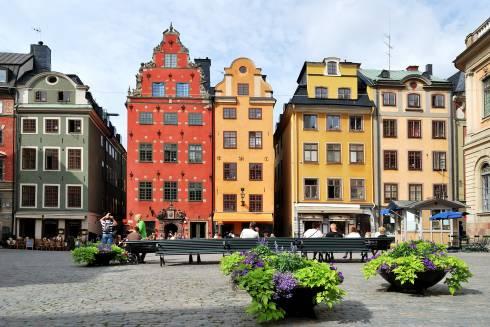 Stortorget, Stockholm, Gamla Stan, gamlebyen, Unesco Verdensarv, Sverige