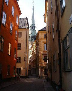 Tyska Skolgränd, Tyska Kyrkan, Stockholm, Gamla Stan, gamlebyen, Unesco Verdensarv, Sverige
