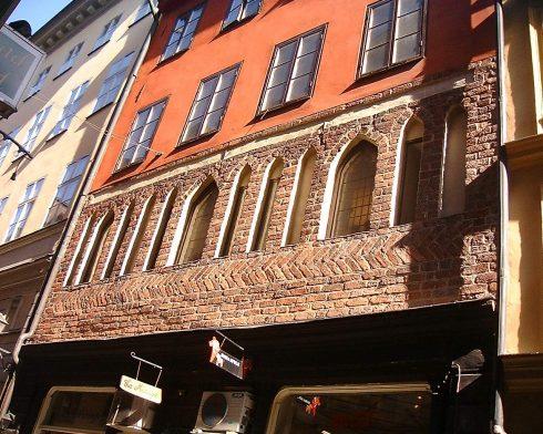 Gotisk, Västerlånggatan 29, Stockholm, Gamla Stan, gamlebyen, Unesco Verdensarv, Sverige