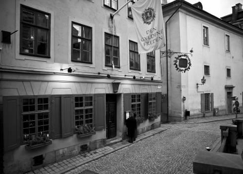 Restaurant Gyllende Freden, Bellman, Stockholm, Gamla Stan, gamlebyen, Unesco Verdensarv, Sverige