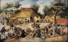 Hallwylska Museet, Bondebryllup av Pieter Breughel d.y. malt ca år 1600, City, Stockholm, Sverige