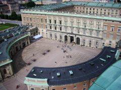 Kungliga Slottet Yttre borggården, Stockholm, Gamla Stan, gamlebyen, Unesco Verdensarv, Sverige
