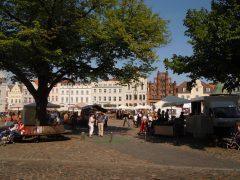 Marktplatz, Wismar, Østersjøen, middelalder, Backsteinsgotik, Ostsee, Unesco Verdensarv, Gamlebyen, Altstadt, Hansestadt Wismar, Mecklenburg Vorpommern, Nord-Tyskland