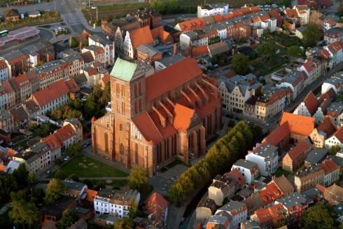 St. Nikolai Kirche, Wismar, Østersjøen, middelalder, Backsteinsgotik, Ostsee, Unesco Verdensarv, Gamlebyen, Altstadt, Hansestadt Wismar, Mecklenburg Vorpommern, Nord-Tyskland