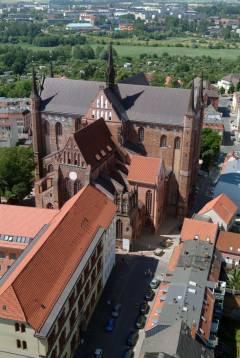 St Georgen Kirche, Wismar, Østersjøen, middelalder, Backsteinsgotik, Ostsee, Unesco Verdensarv, Gamlebyen, Altstadt, Hansestadt Wismar, Mecklenburg Vorpommern, Nord-Tyskland