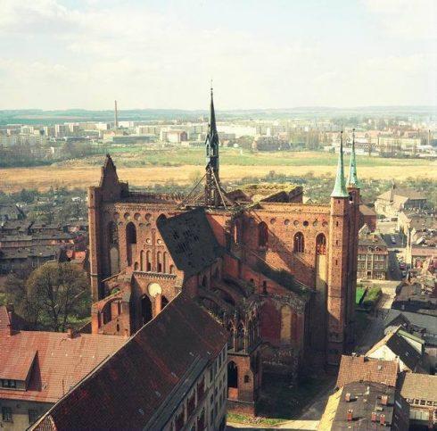 St. Georgen Kirche, Wismar, Østersjøen, middelalder, Backsteinsgotik, Ostsee, Unesco Verdensarv, Gamlebyen, Altstadt, Hansestadt Wismar, Mecklenburg Vorpommern, Nord-Tyskland