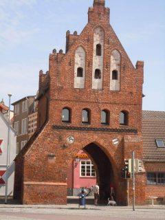 Wassertor, gotisk, Wismar, Østersjøen, middelalder, Backsteinsgotik, Ostsee, Unesco Verdensarv, Gamlebyen, Altstadt, Hansestadt Wismar, Mecklenburg Vorpommern, Nord-Tyskland
