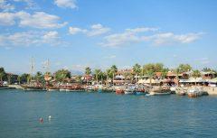 Side, havnen, Middelhavskysten, Tyrkia