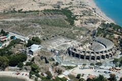 Side, romersk teater, Middelhavskysten, Tyrkia