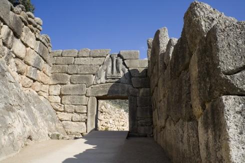Mykene, Løveporten, Peloponnes, Hellas