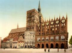 Rådhuset, Stralsund, Unescos Verdensarvliste, Wismar, Lübeck, Hansaen, Hanseatforbundet, Mecklenburg Vorpommern, Nord-Tyskland