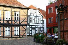 Am Dom, Schwerin, bindingsverk, Fachwerk, Altstadt, Alter Markt, Am Markt, Mecklenburg-Vorpommern, Nord-Tyskland