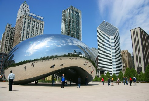 Chicago, Millennium park cloud gate, The Blub, USA