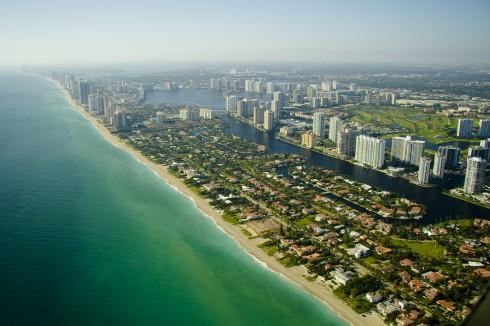 Miami Beach Seashore, Florida, USA