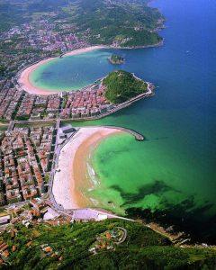 San Sebastián, ferieby, badeby, Playa de la Concha, Playa de la Zurriola, gourmet, pintxo, Donostia, Baskerland, Guipuzskoa, surfing, Nord-Spania, Spania
