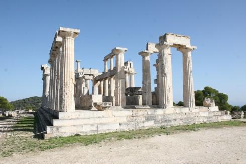 Aegina Aphaia Tempel på Aegina, Athenområdet, Hellas