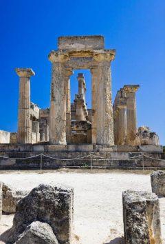 Aigina, Ruinene av Afaiatempelet på Aegina, Athenområdet, Hellas