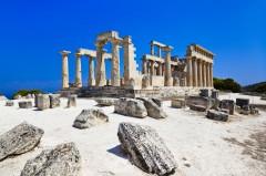 Aigina, ruiner av Aphaia-tempelet, Aegina, Hellas