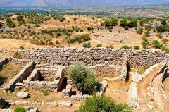 Mykene, gravsirkel A, Peloponnes, Hellas
