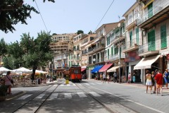 Historisk jernbane i Puerto de Soller - Mallorca - Spania