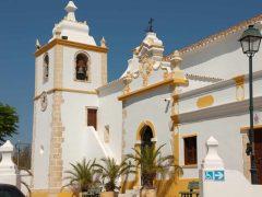 Kirken Divino Salavador, Alvor, Algarve-kysten, Portugal