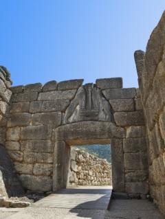 Løveporten, Mykene, Pelponnes, Hellas