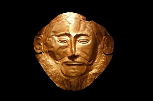 Mykene, Agamemnons gullmaske, Peleponnes, Hellas