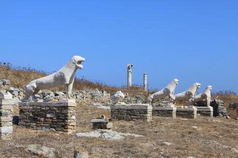 Mykonos, Delos, løvene, Kykladene, Hellas